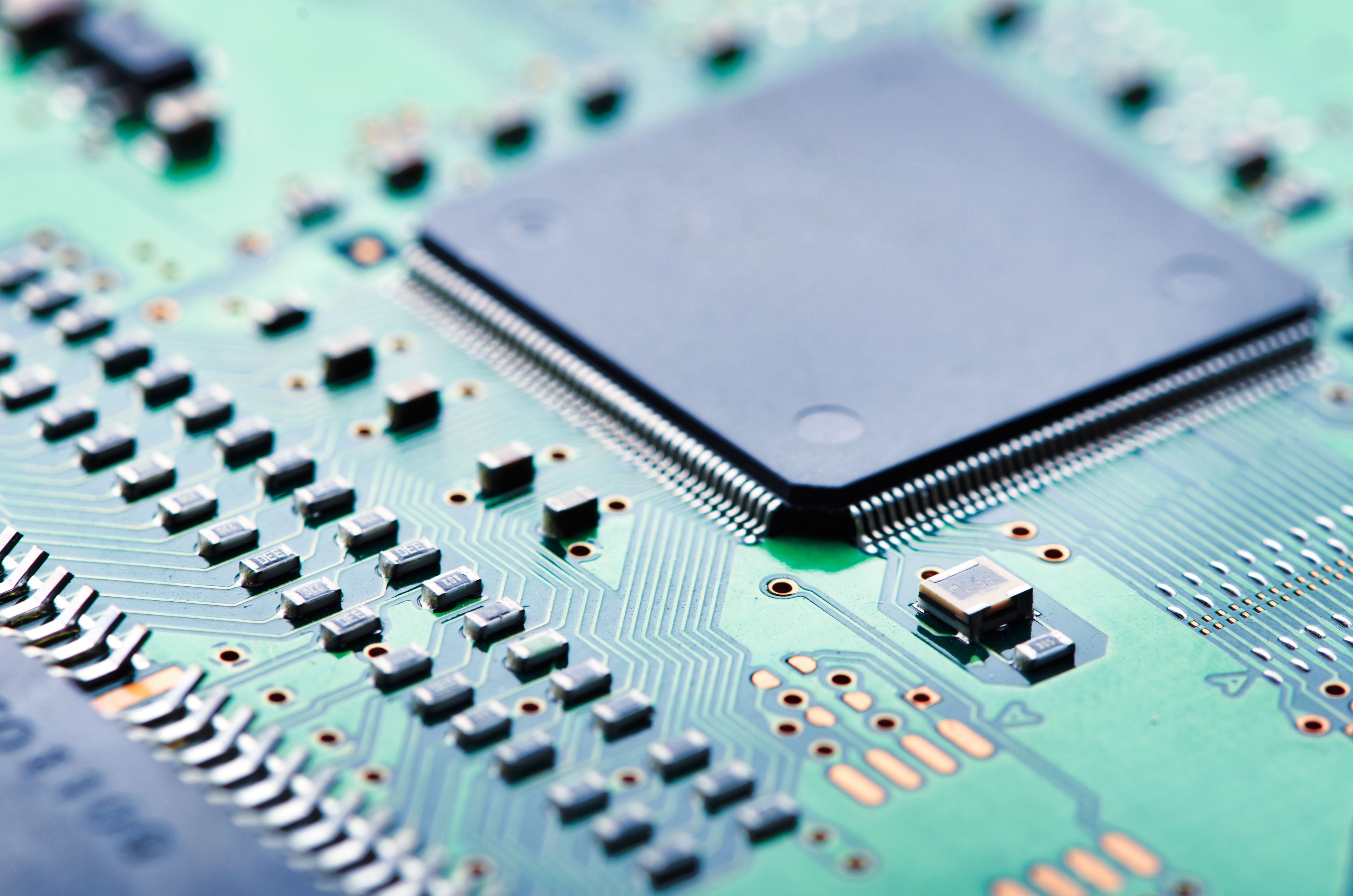 Computer Science Oriel College Circuit Board With Electronic Components Inside A Stock Photo