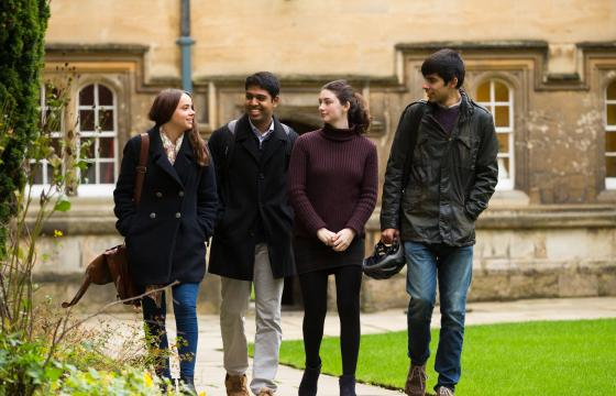 Students in second quad