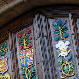 Oriel College main doors