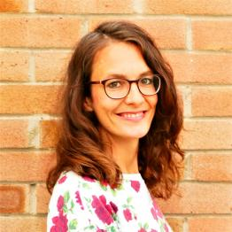 Dr Kerstin Timm, who has brown hair and glasses