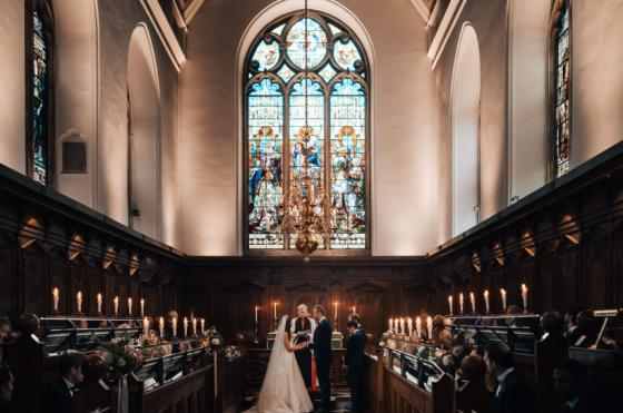 A wedding in the Oriel College Chapel