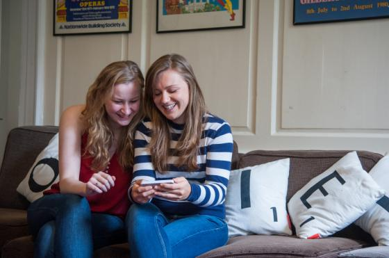 Students in Oriel's JCR by John Cairns