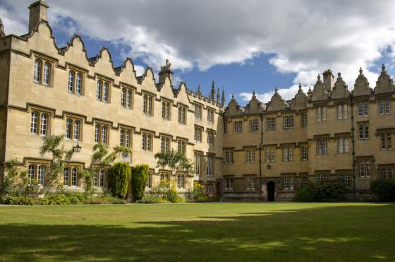 Photo of Oriel College's Second Quad by graduate student Alejandro Salgado Montejo