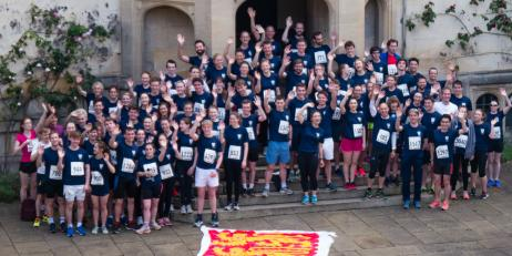Team Oriel in Oxford Town and Gown 10k