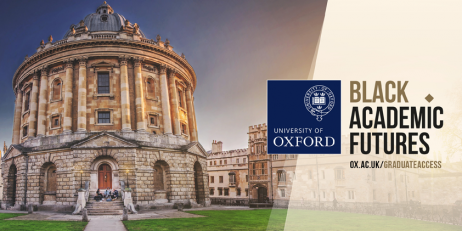 Image of Radcliffe Camera in Oxford with Black Academic Futures text