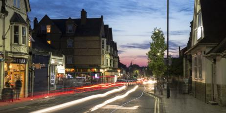 Photo of Cowley Road at night by graduate student Alejandro Salgado Montejo