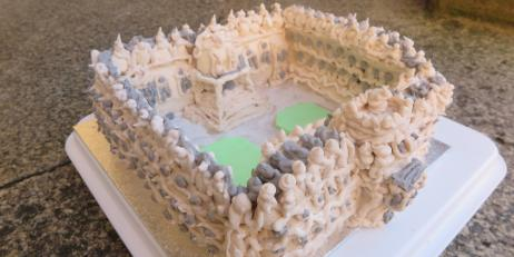 Meringue model of Oriel College