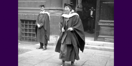Ivy Williams receiving her degree from Oxford University