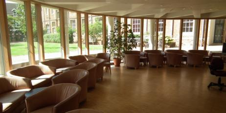 Common room at JMH (graduate accommodation)