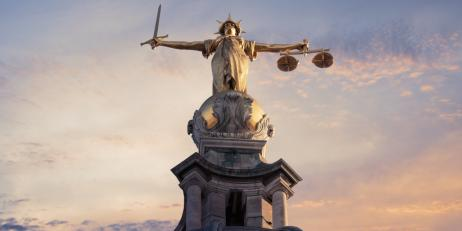 Lady Justice on the roof of the Old Bailey in London