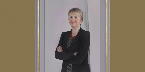 Portrait of Moira Wallace OBE, Provost of Oriel College, by Beka Smith
