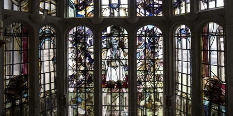 Photo of Oriel College Chapel's Newman Window by Alejandro Salgado Montejo