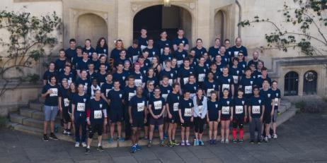 Oriel College Team in Oxford Town and Gown 10k