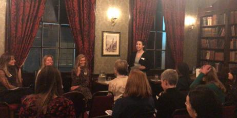 People gathered for the Oriel Women's Network event at the Star Tavern