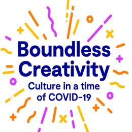 UKRI Arts and Humanities Research Council logo including Boundless Creativity