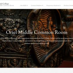 The Oriel MCR website