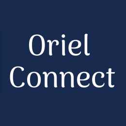Oriel Connect logo - a jigsaw image with the Oriel shield contained within it