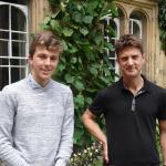 Matthew Drury and Oliver Pooley at Oriel College